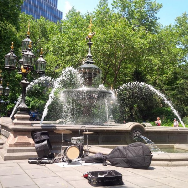Photo taken at City Hall Park by Ernst Emery C. on 7/5/2013