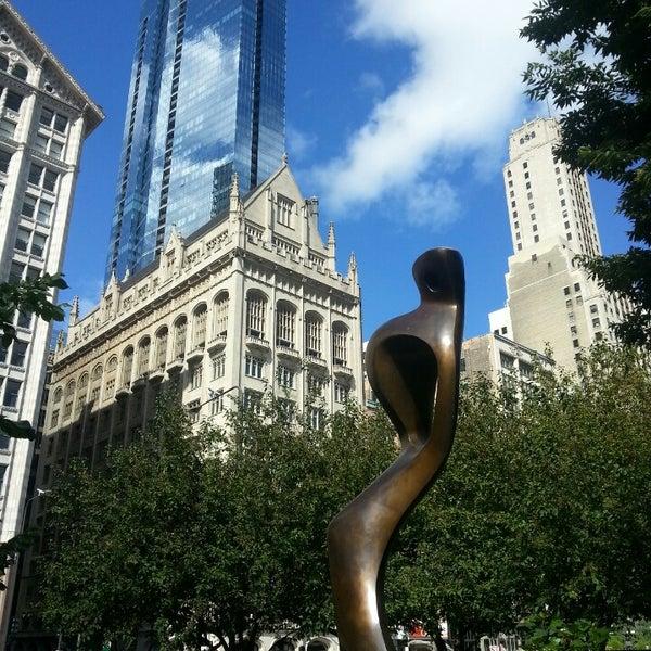 Photo taken at Sculpture Garden - Art Institute of Chicago by Sarah P. on 9/24/2013