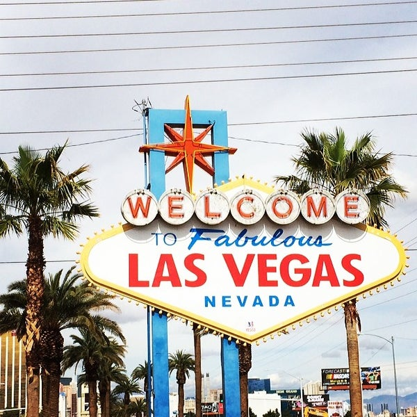 Photo taken at Welcome To Fabulous Las Vegas Sign by Ricardo M. on 3/2/2014