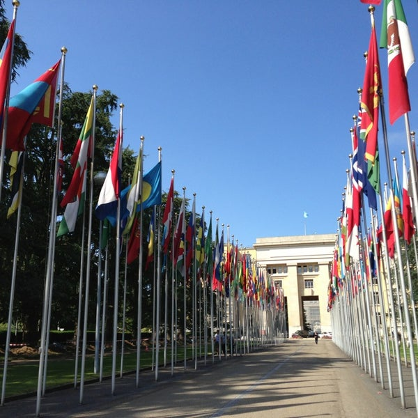 Photo taken at Palais des Nations by Isabelle C. on 7/4/2013