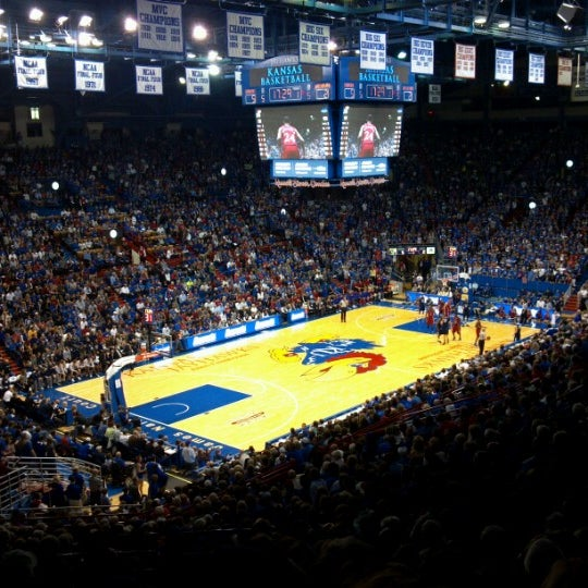 Photo taken at Allen Fieldhouse by Patrick D. on 11/6/2012