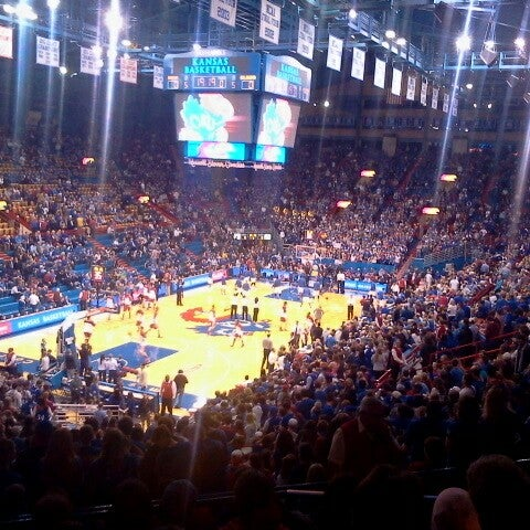 Photo taken at Allen Fieldhouse by Andy A. on 2/25/2014