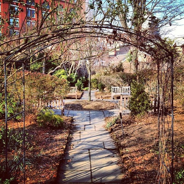 Photo taken at The Garden at St. Luke in the Fields by Steve P. on 1/6/2013