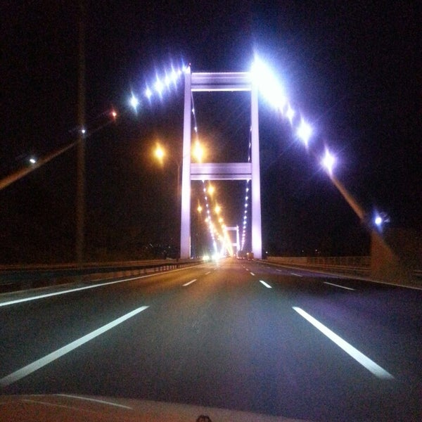 Photo taken at Fatih Sultan Mehmet Bridge by Mikail T. on 7/30/2013