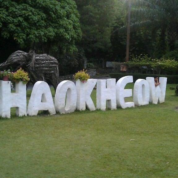 Photo taken at สวนสัตว์เปิดเขาเขียว (Khao Kheow Open Zoo) by Andrey M. on 7/27/2013