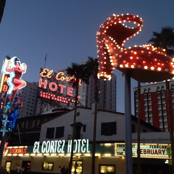 Photo taken at El Cortez Hotel & Casino by Angie R. on 2/23/2014