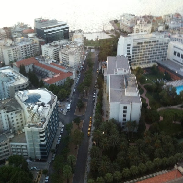 Photo taken at Hilton İzmir by Onur I. on 6/22/2013