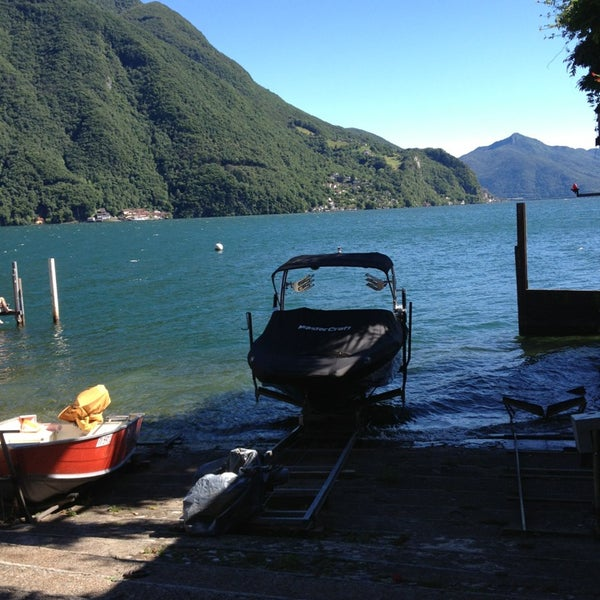 Photo taken at Lago di Lugano by Riethmann C. on 6/24/2013