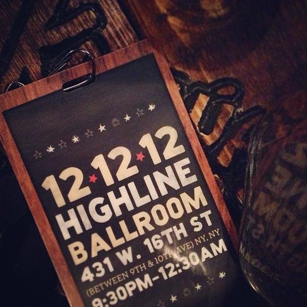 Photo taken at Highline Ballroom by Kacy J. on 12/13/2012