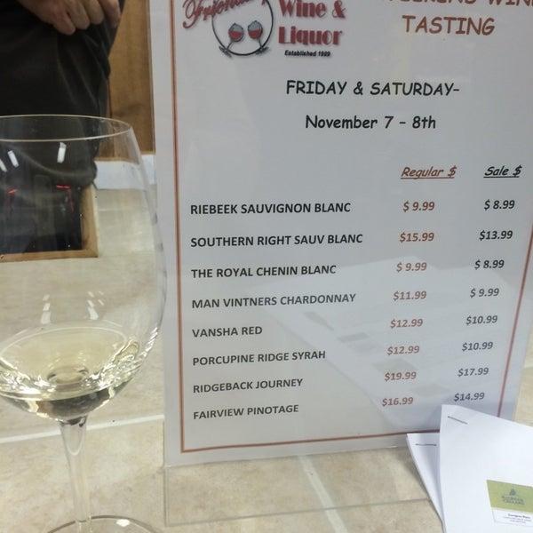 Photo taken at Friendship Wine & Liquor by Pattie T. on 11/7/2014