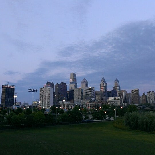 Photo taken at South Street Bridge by Alice Y. on 7/21/2014