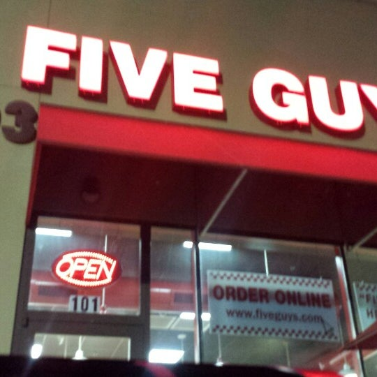 Leave a Tip for the five guys to split. Great service & competence = returning customer. Keep up the good work!
