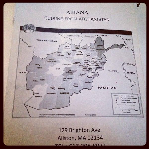 Ariana restaurant north allston boston ma for Ariana afghan cuisine menu