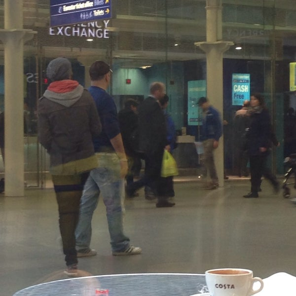 Photo taken at London St Pancras International Railway Station (STP) by Hannah C. on 3/9/2014