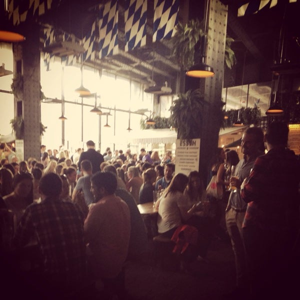 Photo taken at The Biergarten at The Standard by Maddie T. on 4/14/2014