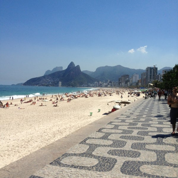 Photo taken at Praia de Ipanema by Hilton M. on 9/13/2013