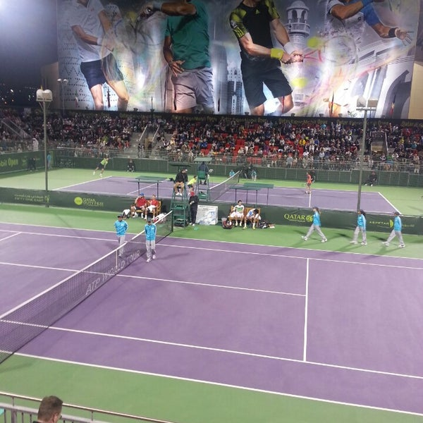 Photo taken at Qatar Tennis Federation by Maurice S. on 12/30/2013