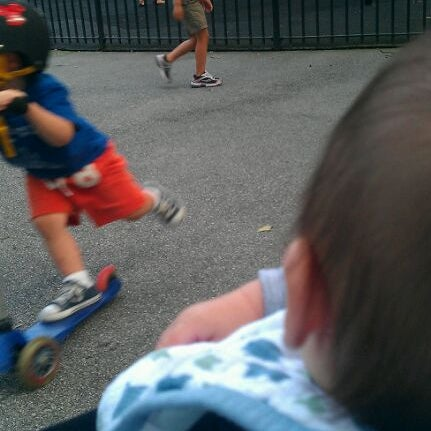 Photo taken at Central Park - Mariners' Gate Playground by Malathip K. on 9/10/2011