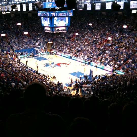 Photo taken at Allen Fieldhouse by Roy M. on 3/4/2011