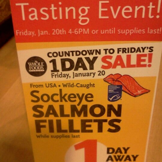 One day Salmon sale tomorrow! Tasting event from 4-6!