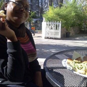 Photo taken at Sugar Plum Vegan Cafe by Sunshine J. on 2/4/2012