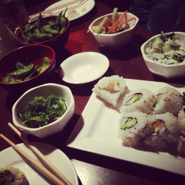 Photo taken at Harney Sushi by adrienne on 1/27/2013