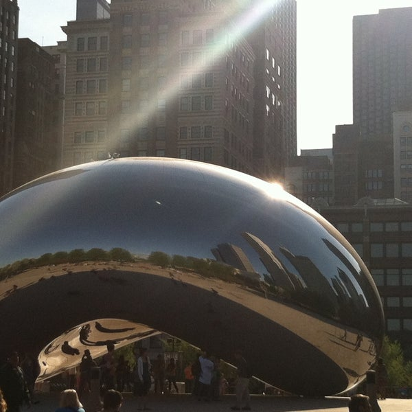 Photo taken at Cloud Gate by Aly E. on 5/8/2013