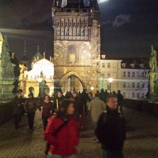Photo taken at Karlův most | Charles Bridge by Dmitry F. on 3/15/2014