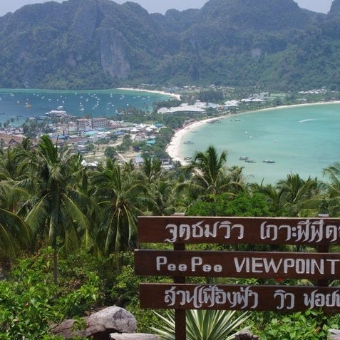 Photo taken at เกาะพีพีดอน (Koh Phi Phi Don) by sun G. on 4/15/2012