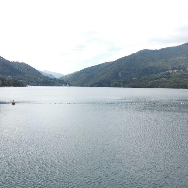 Photo taken at Lago di Suviana by Kirill V. on 8/15/2013