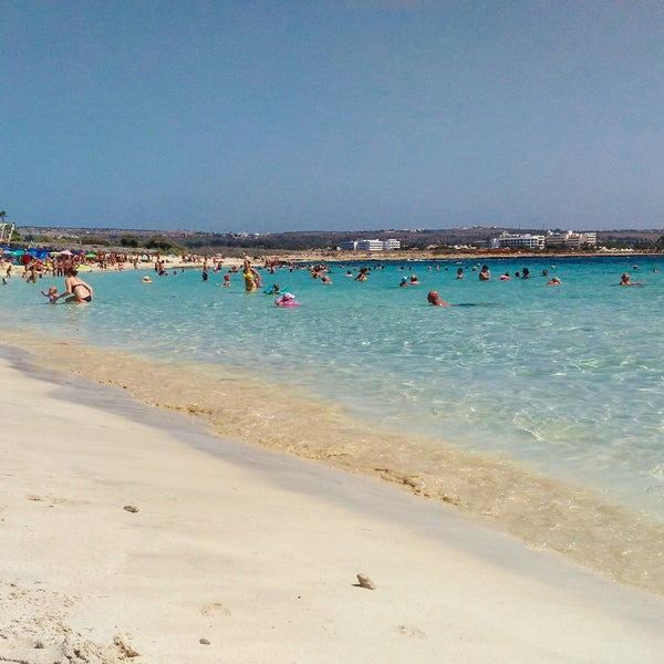Photo taken at Makronissos beach by Анастасия on 9/13/2016