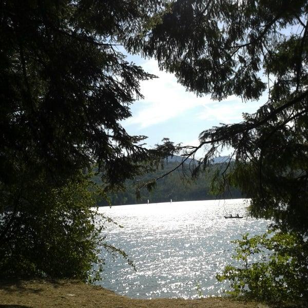 Photo taken at Lago di Suviana by Patrizia I. on 8/13/2013