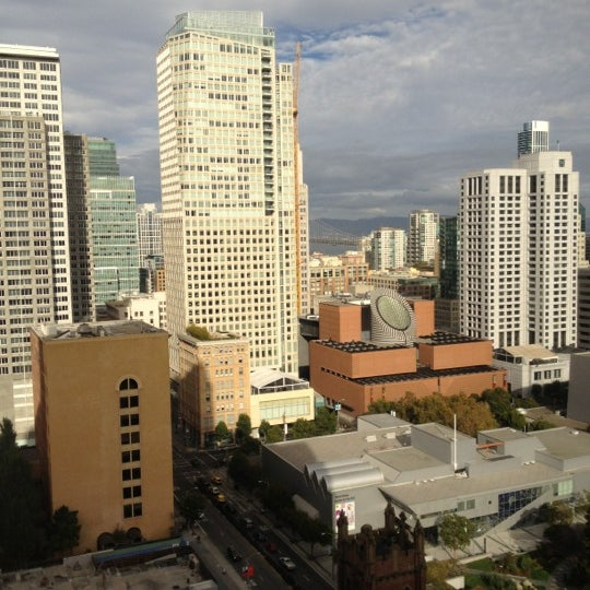 Photo taken at San Francisco Marriott Marquis by Jeremy G. on 10/5/2012