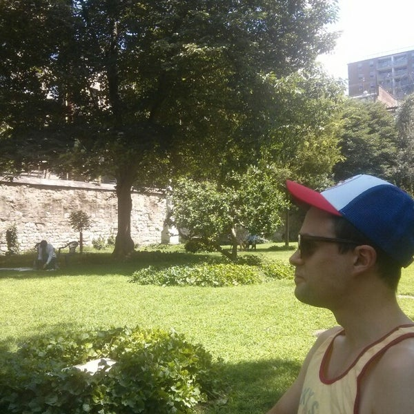 Photo taken at New York City Marble Cemetery by Jess T. on 8/9/2014