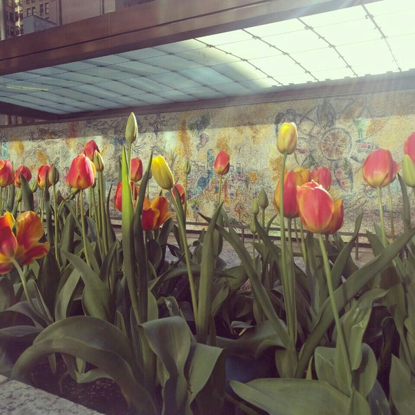 """Photo taken at Chagall Mosaic, """"The Four Seasons"""" by Amanda A. on 5/5/2016"""