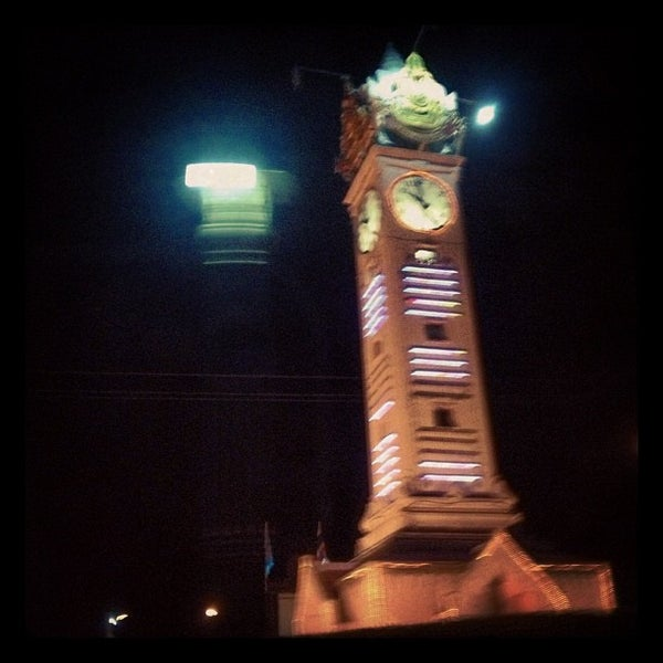 Photo taken at Maha Sarakham Clock Tower by bigpig on 9/25/2012