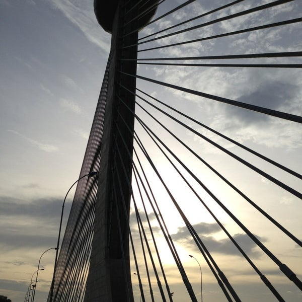 Photo taken at Ponte Estaiada by Manoel F. on 3/16/2013