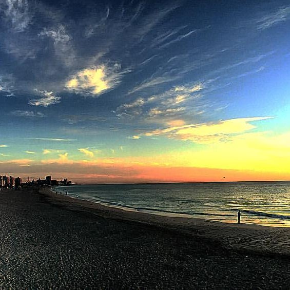 Photo taken at South Pointe Pier by Michael R. on 4/8/2016
