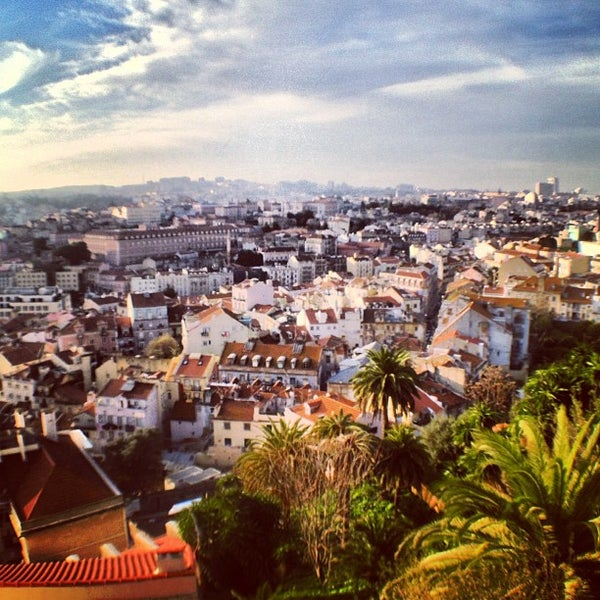 Photo taken at Miradouro da Graça by Pedro B. on 12/11/2012