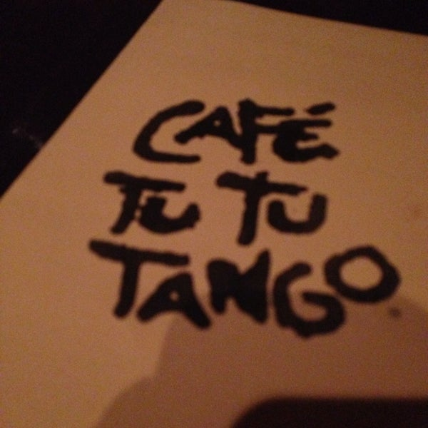 Photo taken at Café Tu Tu Tango by Charlie305 S. on 3/11/2014