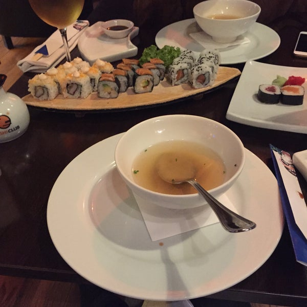Photo taken at Sushi Club by Randa A. on 3/3/2015