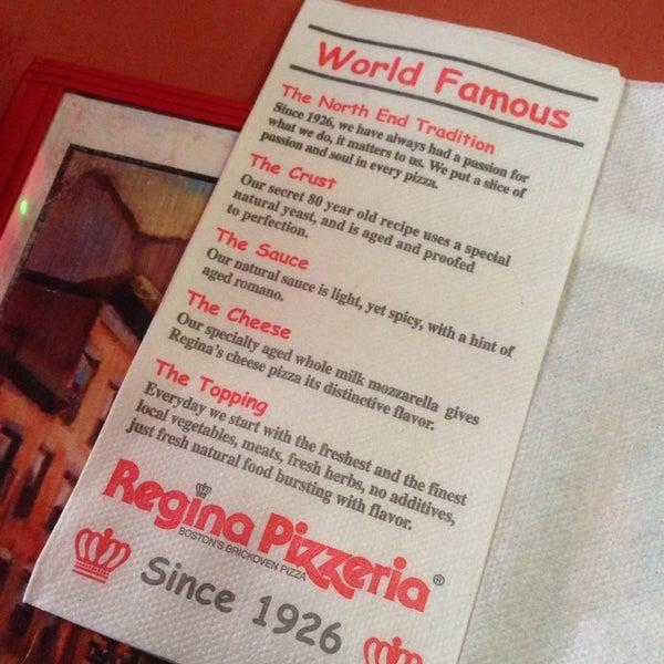 Photo taken at Regina Pizzeria by Fernando R. on 10/3/2013