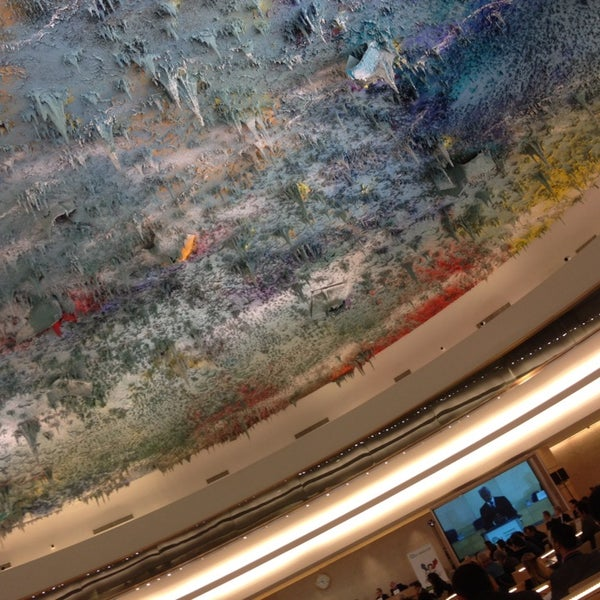 Photo taken at Palais des Nations by alex g. on 2/14/2014
