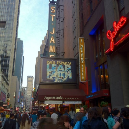 Photo taken at St. James Theatre by Joshua Q. on 4/21/2012