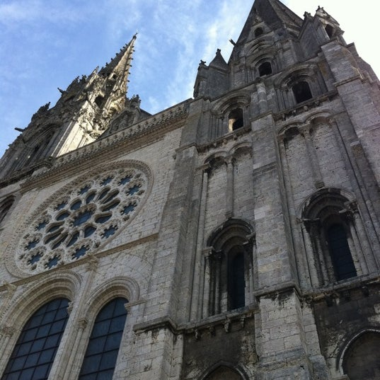 Photo taken at Cathédrale Notre-Dame de Chartres by Chartres T. on 8/21/2012