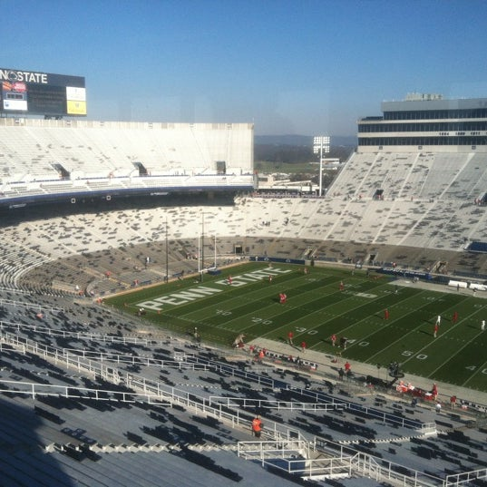 Photo taken at Beaver Stadium by Aaron S. on 11/17/2012