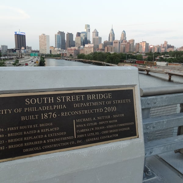 Photo taken at South Street Bridge by Paul G. on 8/12/2014