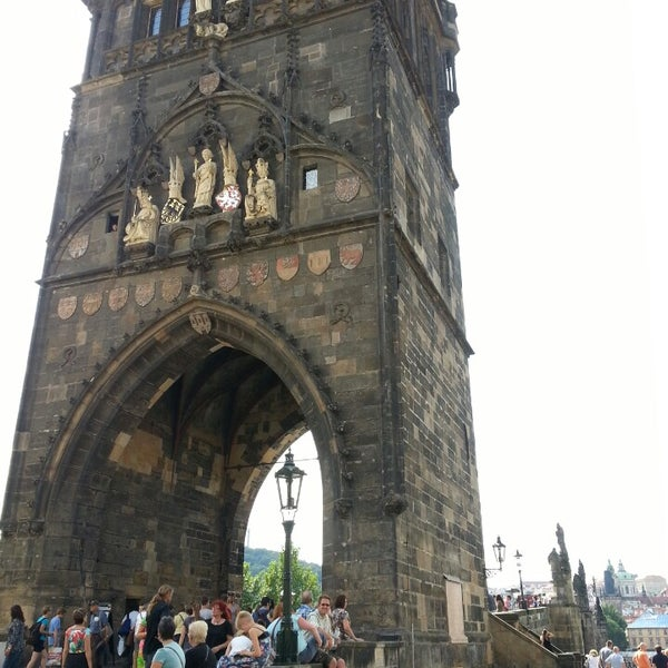 Photo taken at Charles Bridge by Francis D. on 7/18/2013