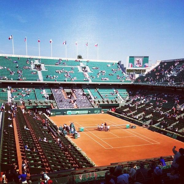 Photo taken at Stade Roland Garros by Safeer B. on 9/13/2014