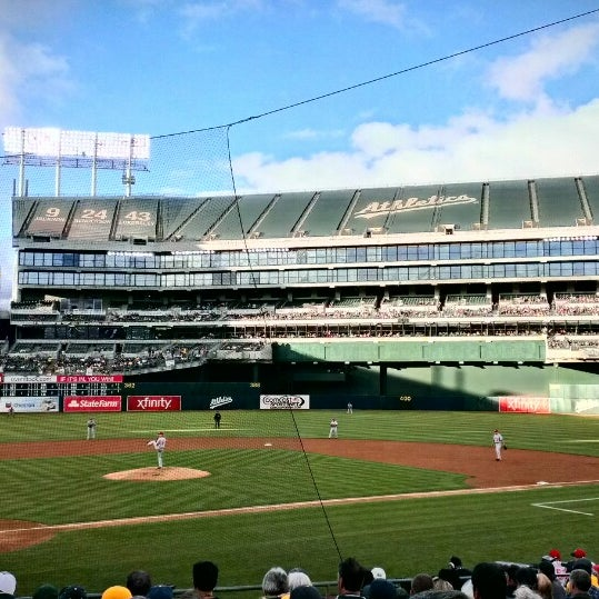 Photo taken at O.co Coliseum by Ali T. on 6/26/2013